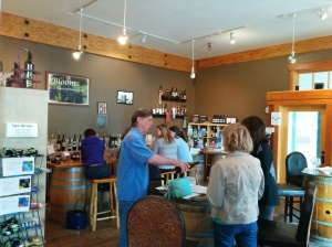 The tasting room is a charming and fun place to spend a little time.