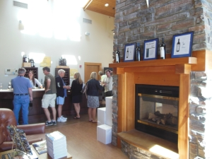 The cozy tasting room at Northstar Winery