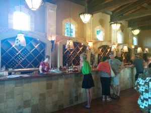 The tasting bar at Tsillan Cellars - Vicky was pouring for us