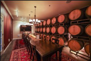 "The ""Barrel Room"" at Obelisco is used for parties, private tastings and other events."